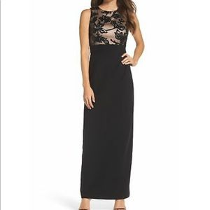 Vince Camuto sequin crep column gown